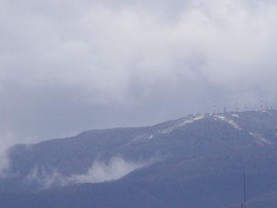 ついに来た、手稲山の初冠雪!