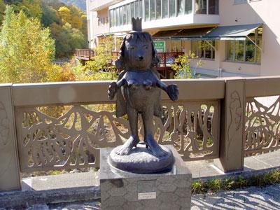 定山渓温泉の河童とネコ